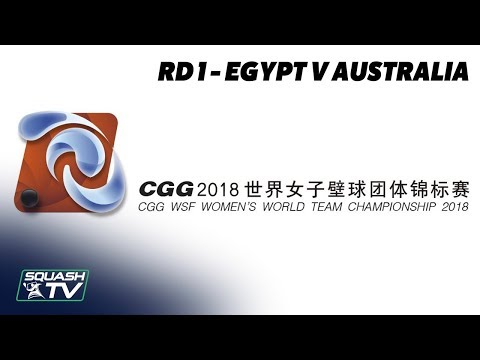 WSF Women's World Team Champs 2018 - Egypt v Australia - Round 1