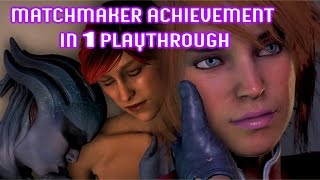 In this Video I show you how to get the Matchmaker Achievement in a single playthrough in Mass Effect Andromeda. You must start playing as a Female Ryder and...