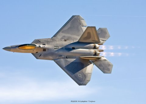 This is the F-22 Raptor Demo at...