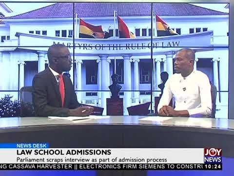 Law School Admissions - News Desk on JoyNews (14-12-17)