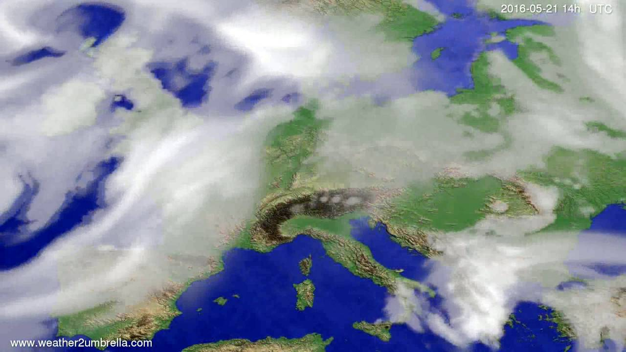 Cloud forecast Europe 2016-05-17