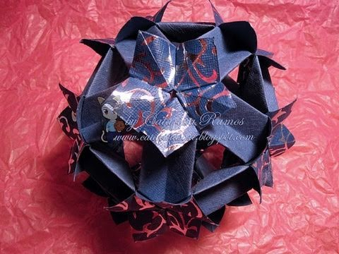 Kusudama Tutorial - 011 -- Spring Hollow