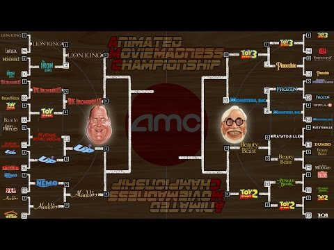 Animation Movie Madness Tournament Round 4 Results