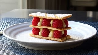 Mille Feuille - Vanilla Custard & Raspberry Napoleon Pastry by Food Wishes