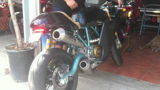 9. 2006 Ducati Paul Smart Sport 1000 ZARD full exhaust w/ MotoBOX LED in action