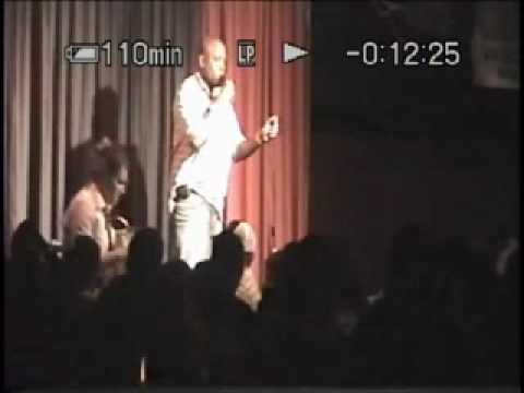 African King of Comedy, Sidney Sir  hosts  Thea Vidale 2008