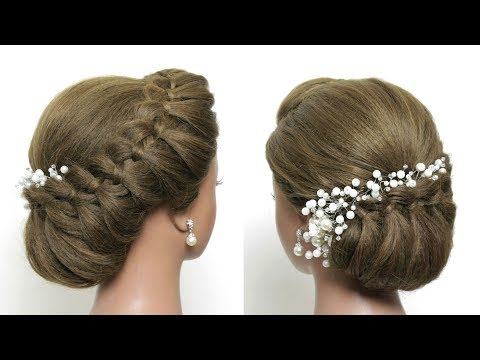 Hairstyles for long hair - Easy Braided Updo. Party Hairstyle For Long Hair Tutorial