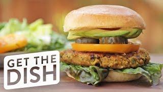 How to Make A Falafel Burger!   Get the Dish by POPSUGAR Food