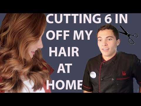 Hair cutting - CUTTING 6 INCHES OFF MY HAIR AT HOME AND SURPRISING MY HUBBY (he was shocked)