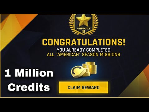 Asphalt 9, American Season Complete All Episodes and Claim 1 Million Credits 😃