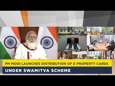 PM Modi launches distribution of e-property cards under SWAMITVA scheme