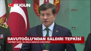 """Ahmet Davutoğlu: """"Hiç Bir Gerçek Bu Terörü Masum Gösteremez"""""""