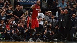 NBA Finals 2014 [Game 1], LeBron James Cramp