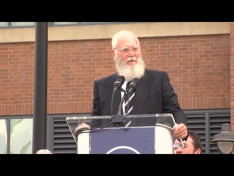 """David Letterman at Peyton Manning statue unveiling: """"Where the hell is my statue?"""""""