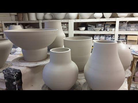 Zizipho Poswa displays her distinctive clay art
