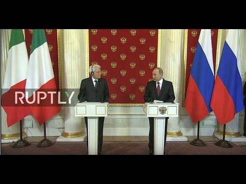 LIVE: Putin holds press conference with Italian counterpart Mattarella (видео)
