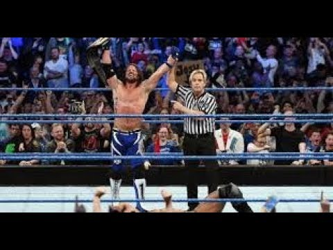 Jinder Mahal Vs Aj Styles Full Match World heavyweight champion Smackdown November 2017