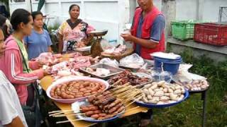Muang Phon Thailand  city images : Market Phon Muang Lao Sua Kok Ubon Ratchathani Thailand