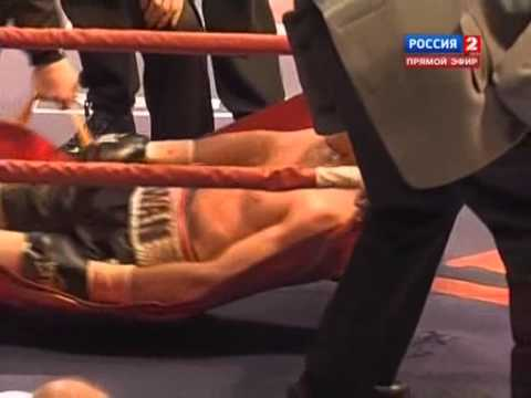 dies - End of the fight between Roman Simakov and Sergey Kovalev. RIP.