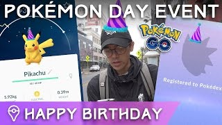 #POKEMONDAY EVENT ✦ PARTY HAT PIKACHU SO RARE + NEW GEN 2 CATCHES by Trainer Tips