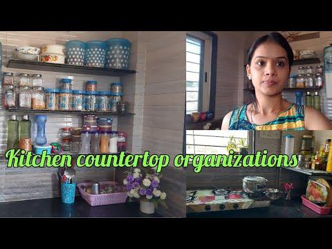 Kitchen countertop organizations.kichen organizations.  INDIAN LIFESTYLES with gauri.