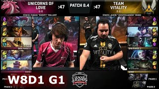 Video Unicorns of Love vs Vitality | Week 8 Day 1 of S8 EU LCS Spring 2018 | UOL vs VIT W8D1 G1 MP3, 3GP, MP4, WEBM, AVI, FLV Agustus 2018