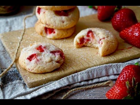 biscotti morbidi alle fragole - ricetta