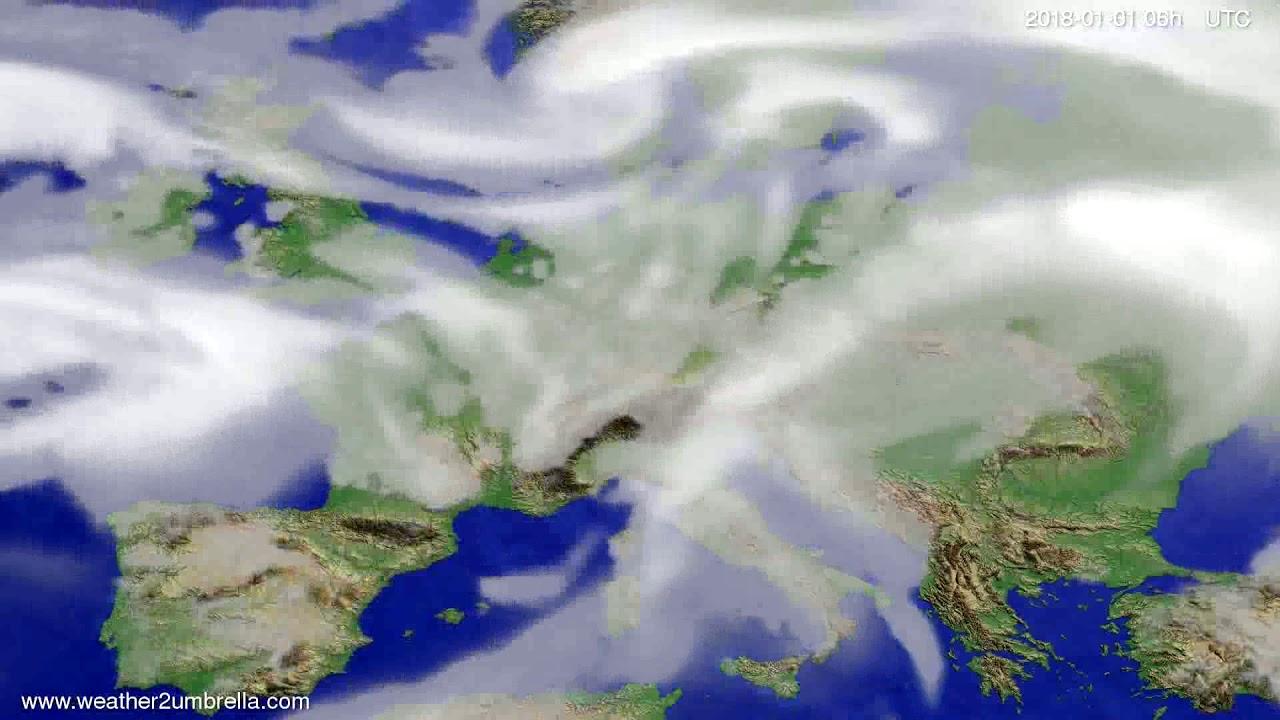 Cloud forecast Europe 2017-12-29