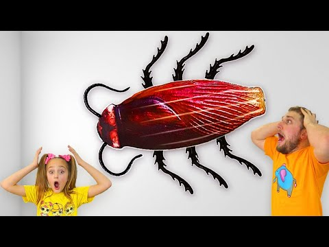 Sasha and Uncle in the story of harmful cockroaches