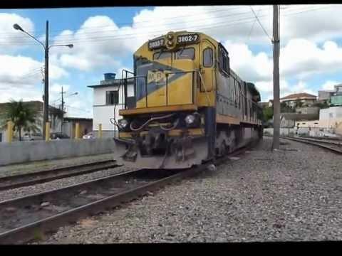 Trens e manobras em Barbacena, MG.