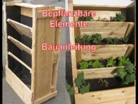 Bauanleitung bepflanzbare Elemente Pflanztreppe Pflanzleiter Pflanzregal Pflanzbehälter XXL