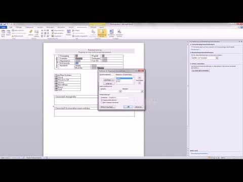 Word 2010 Formular erstellen