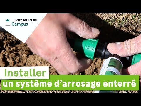comment installer tuyau d'arrosage