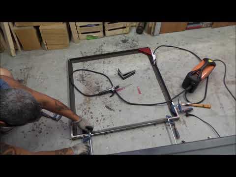🔨Tavolo da pranzo in ferro e legno fai da te stile industriale 1 industrial iron table homemade