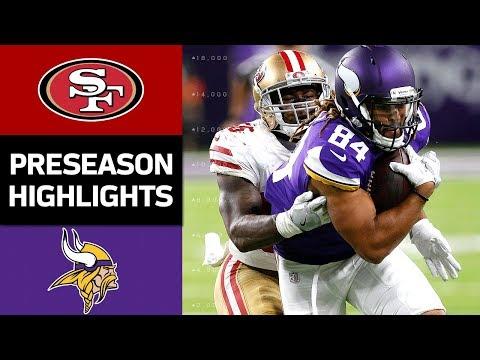 49ers vs. Vikings | NFL Preseason Week 3 Game Highlights - Thời lượng: 10:26.