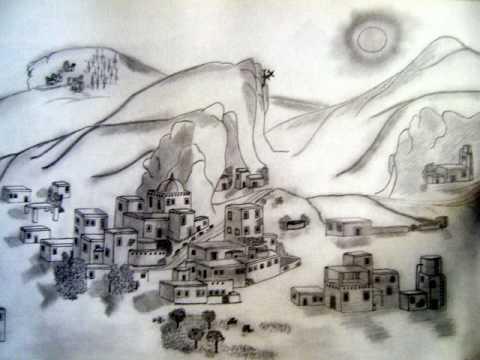 Paisajes dibujados a lapiz carboncillo - Imagui