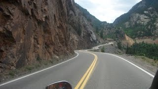 Harley motorcycle dashcam riding the million dollar highway U.S. Route