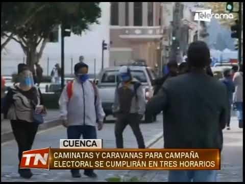 Caminatas y caravanas para campaña electoral se cumplirán en tres horarios