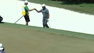 Si Woo Kim's stunning bunker hole out at THE PLAYERS by PGA TOUR