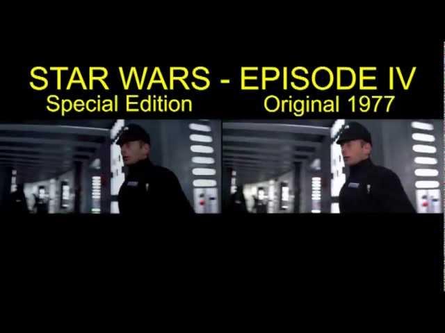 Star Wars IV Special Edition Comparison Death Star Battle