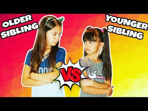 OLDER SIBLING VS YOUNGER SIBLING | Emily and Evelyn