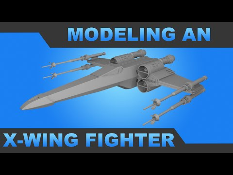 Modeling and Texturing an X-Wing - Part 1