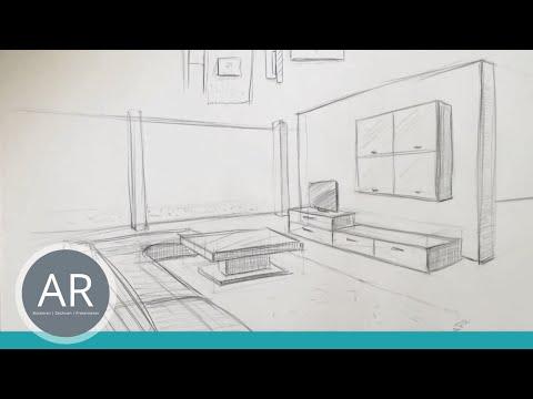 Zeichnen lernen, Akadmie Ruhr, Tutorials, Räumliches Zeichnen – Raum in Perspektive