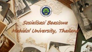 Maret Thailand  city photos : Sosialisasi Beasiswa dari Mahidol University, Thailand