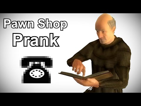 Jauffre Calls Jewelry Stores for the Amulet of Kings - Oblivion Prank Call