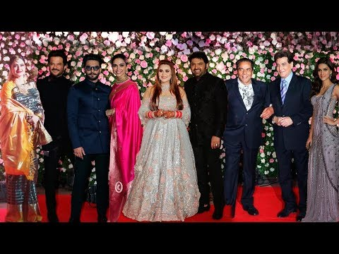 Kapil Sharma Ginni Chatrath Wedding Reception FULL HD Video | Salman Family,Ranveer,Deepika,Rekha