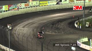 Knoxville Raceway 305 sprints from 7-25-15