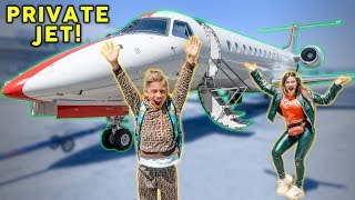 Video Our First Time FLYING On A PRIVATE JET! *Dream Come True*   The Royalty Family MP3, 3GP, MP4, WEBM, AVI, FLV April 2019