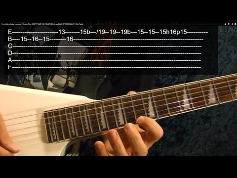 THE HEAVY METAL SCALE ( Guitar Lesson ) With Tabs