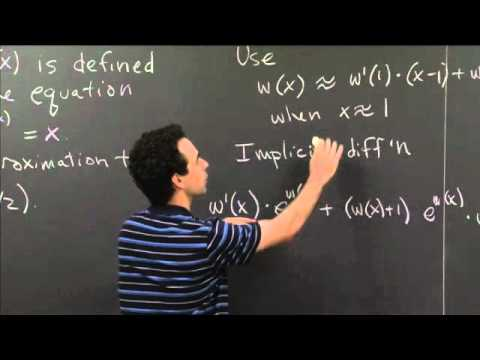 Implicit Differentiation and Linear Approximation | MIT 18.01SC Single Variable Calculus, Fall 2010